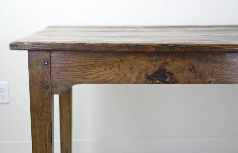 Long Antique French Pine Farm Table For Sale 4