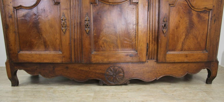 19th Century Thick Top Antique French Walnut Enfilade For Sale