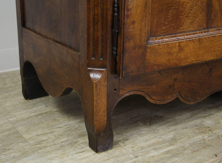 Thick Top Antique French Walnut Enfilade For Sale 3
