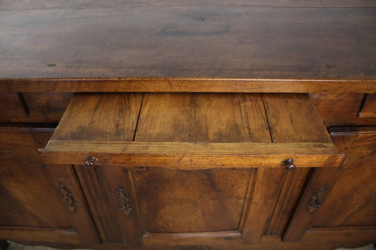 Thick Top Antique French Walnut Enfilade For Sale 6