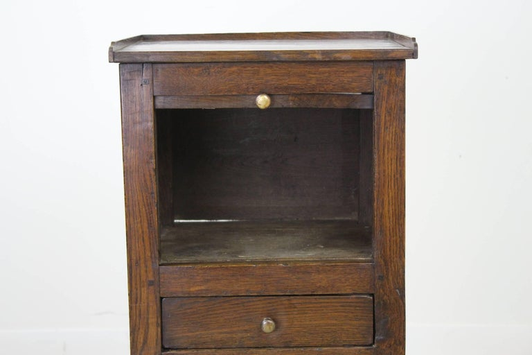 Antique Oak Tambour Fronted Side Cabinet 4