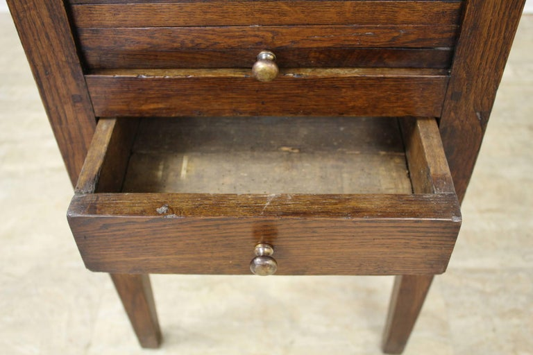 Antique Oak Tambour Fronted Side Cabinet 5
