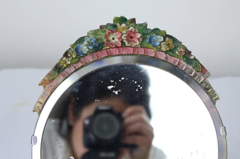 Collection of Vintage English Barbola Mirrors In Good Condition For Sale In Port Chester, NY