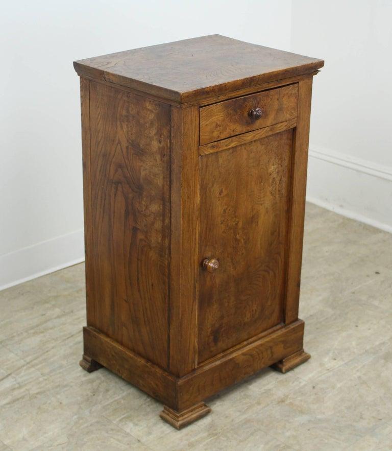 Antique French Burr Elm Side Cabinet 2