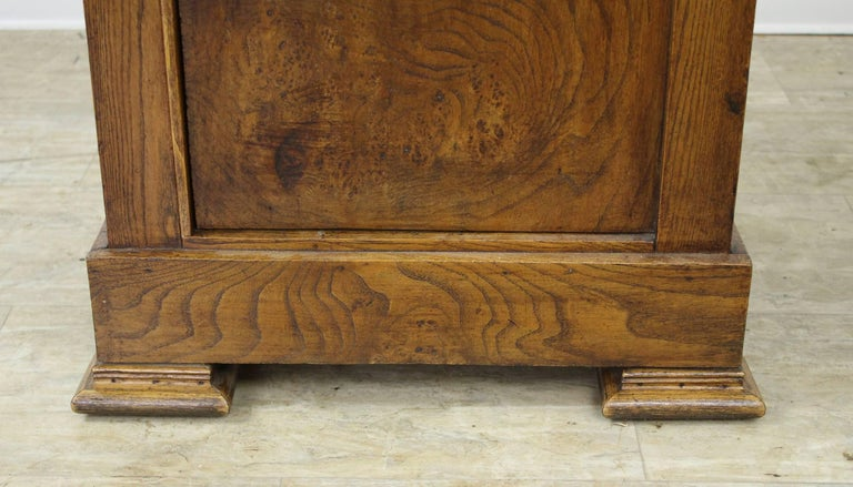 Antique French Burr Elm Side Cabinet For Sale 1