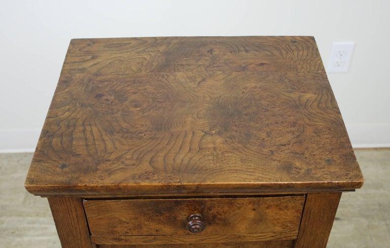 Antique French Burr Elm Side Cabinet For Sale 2