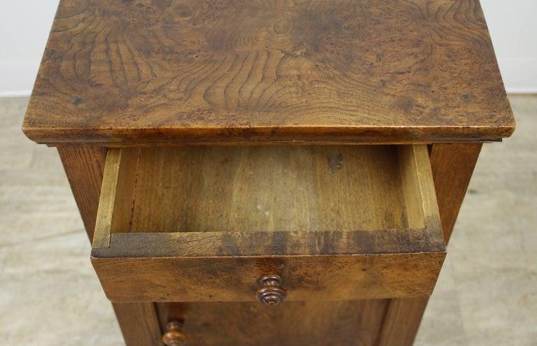 Antique French Burr Elm Side Cabinet For Sale 4