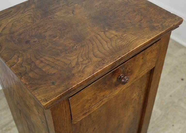 Antique French Burr Elm Side Cabinet For Sale 3