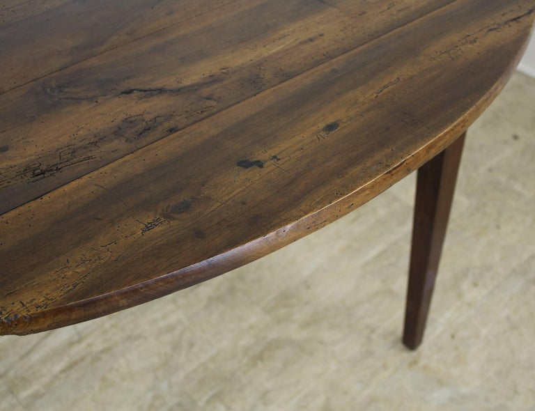 Antique Oval Walnut Occasional Table with One Drawer 3