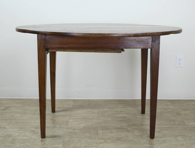 Antique Oval Walnut Occasional Table with One Drawer 5