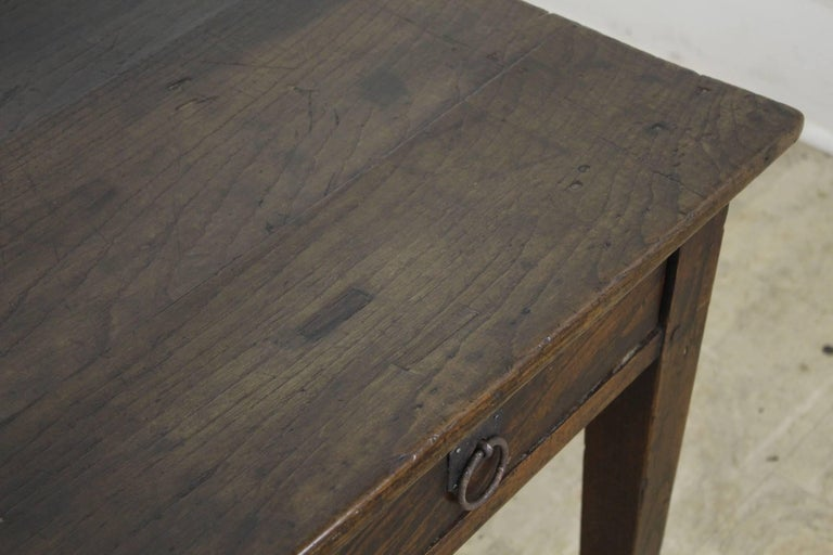19th Century Antique Dark Chestnut Two-Drawer Coffee Table For Sale