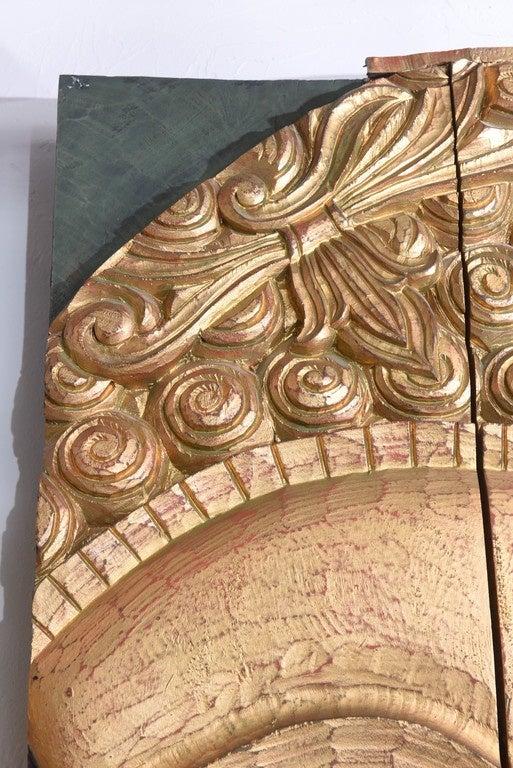 Large Buddha Panel: Large Serene Carved Wood Buddha Head Panel At 1stdibs