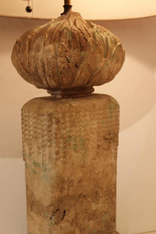 Paul Frankl Cement Lotus Lamp 4