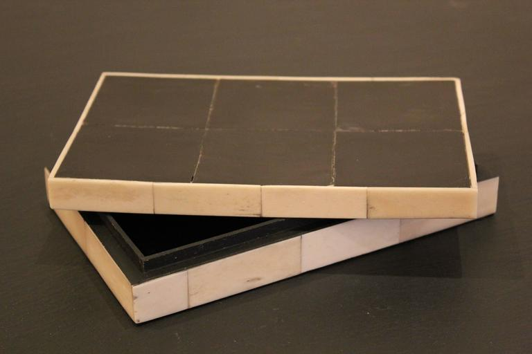 1970s Black and White Bone Box 2
