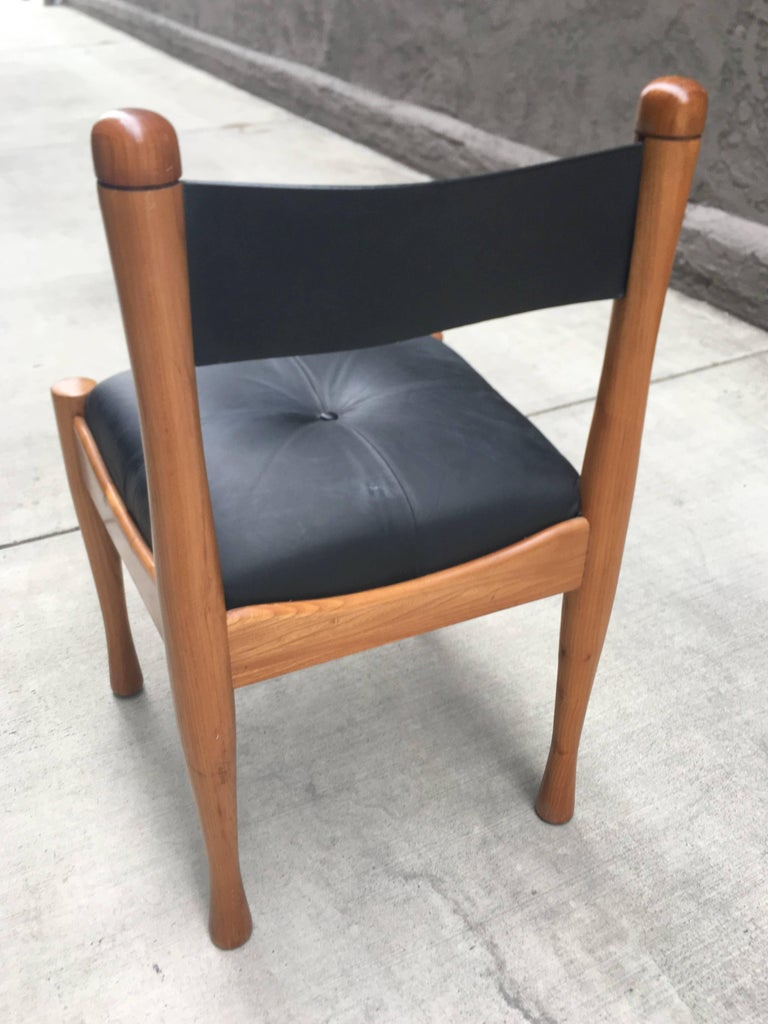 Set of Ten Italian Chairs by Silvio Coppola for Bernini In Good Condition For Sale In Los Angeles, CA
