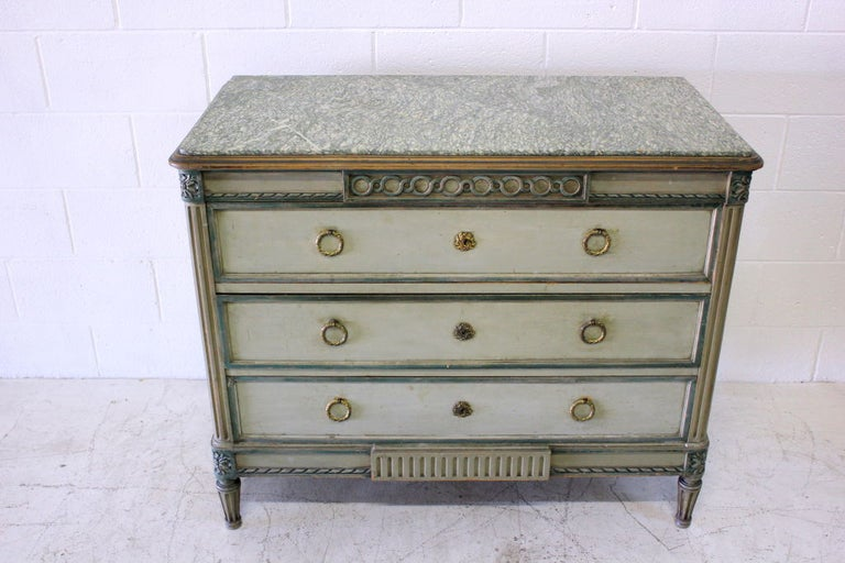 Louis XVI Cabinet with Original Marble Surface In Excellent Condition For Sale In Los Angeles, CA