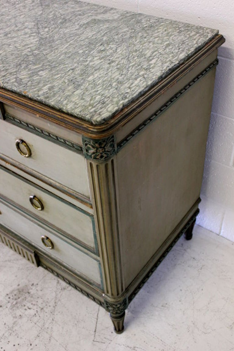 Louis XVI Cabinet with Original Marble Surface For Sale 1