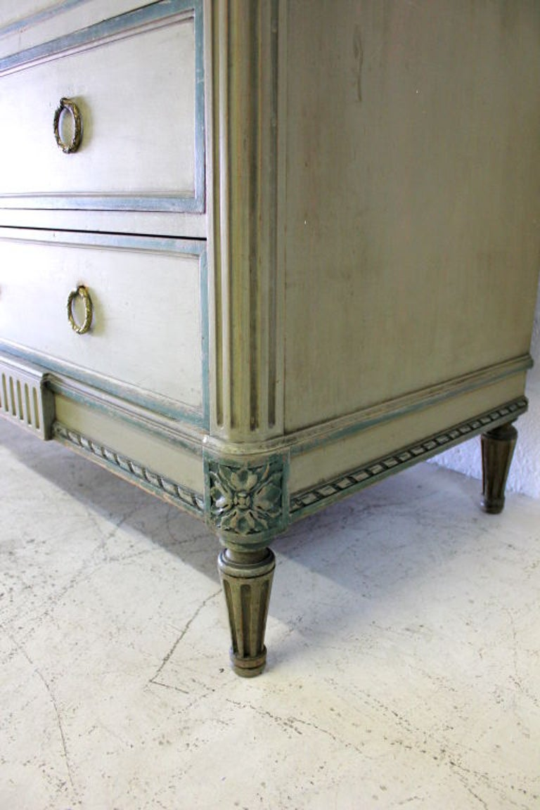 Louis XVI Cabinet with Original Marble Surface For Sale 4