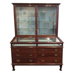 Large Edwardian Mahogany Collector's Cabinet