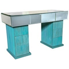 Turquoise and Mirrored Dressing Table