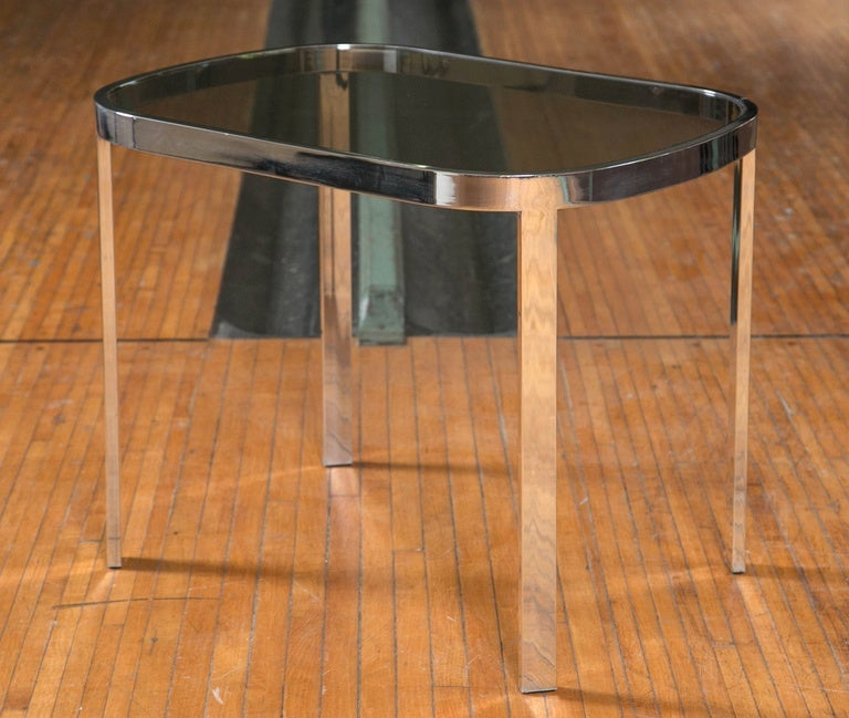 Modern Directional Chrome Side Tables For Sale