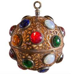 Small Moroccan Copper Globe Light