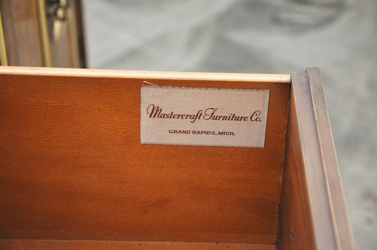 Mastercraft Burled Wood Credenza For Sale 1
