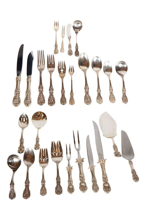 205 Piece Sterling Flatware Service Designed by Ernest Meyers for Reed & Barton 9