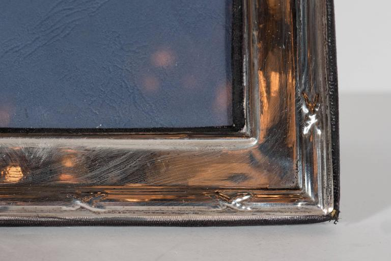 Elegant Sterling Silver Ribbon and Reed Picture Frame In Good Condition For Sale In New York, NY