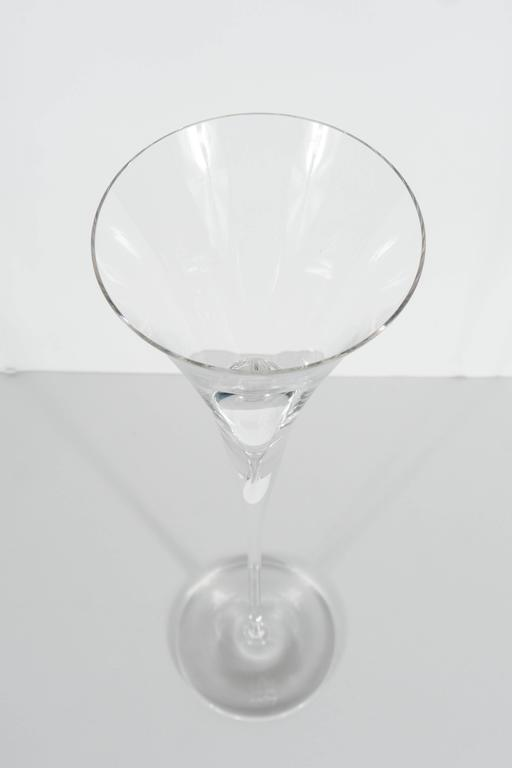 20th Century Set of Four Rare Rosenthal Studio-Line Champagne Flutes by Michael Boehm For Sale