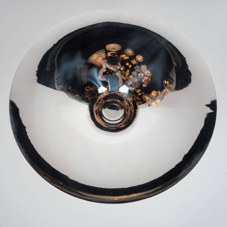 Sculptural German Art Deco Silver Plate Center Bowl by Ikora For Sale 3
