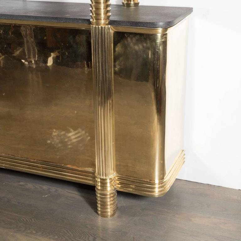 Art Deco Sideboard or Cabinet in Brass from the Estate of Andy Warhol 3