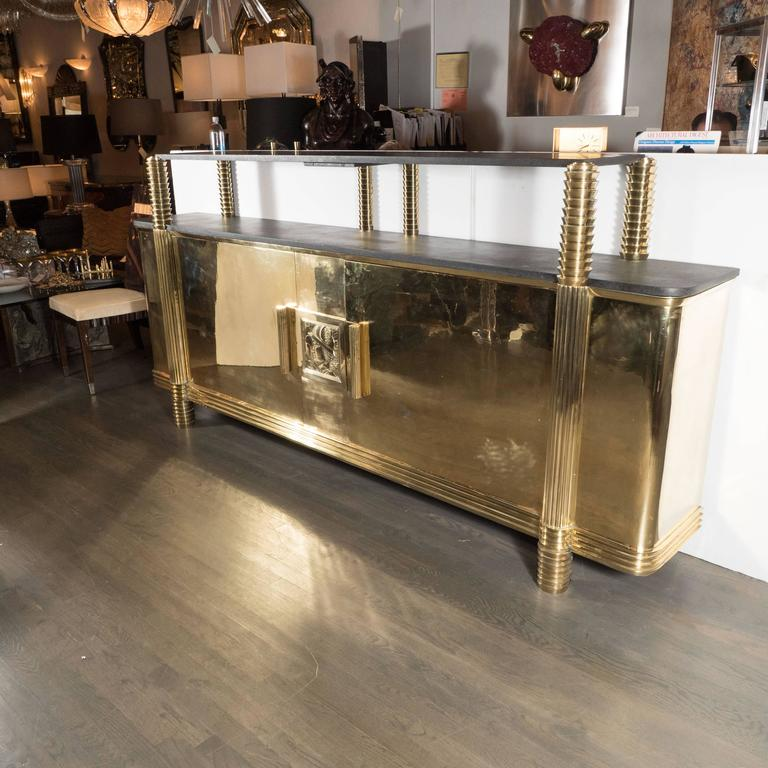 Art Deco Sideboard or Cabinet in Brass from the Estate of Andy Warhol 2