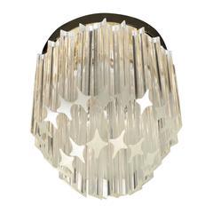 Cut Glass Murano Barbell Chandelier