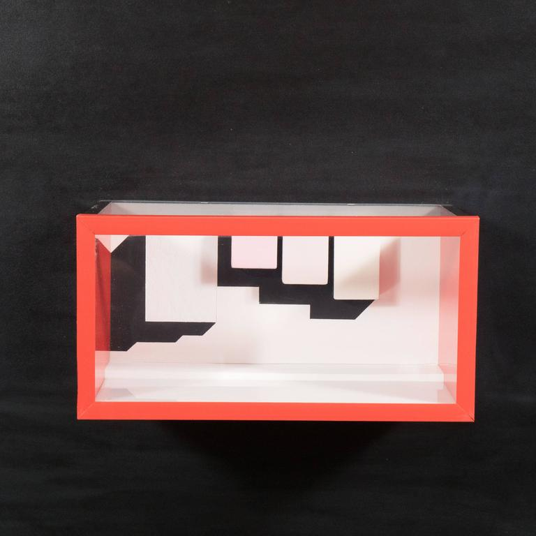American Mid-Century Multimedia Constructivist Style Box Sculpture For Sale