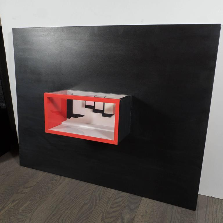 Minimalist Mid-Century Multimedia Constructivist Style Box Sculpture For Sale