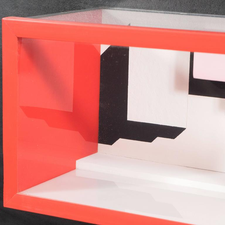 Late 20th Century Mid-Century Multimedia Constructivist Style Box Sculpture For Sale