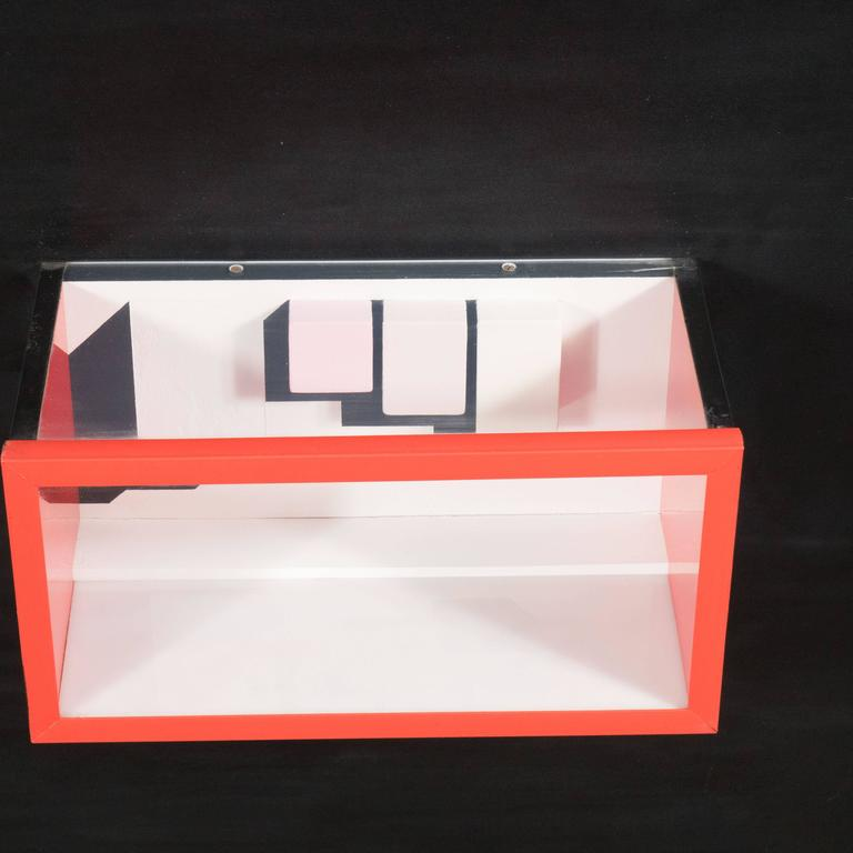 Glass Mid-Century Multimedia Constructivist Style Box Sculpture For Sale