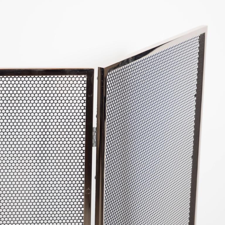 Custom Polished Nickel And Mesh Adjustable Three Panel