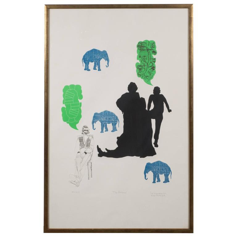 """""""The Dream"""" Lithograph Printed in Colors, Depicting Jungle Scenes, 1968"""
