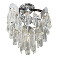 Mid-Century Modernist Chandelier by Lobmeyr with Crystal Rods