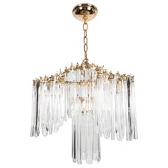 Mid-Century Draped Chandelier with 24-Karat Gold-Plated Fittings by Lobmeyr