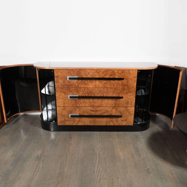 Aluminum Streamline Machine Age Art Deco Sideboard by Walter Dorwin Teague for Hastings  For Sale
