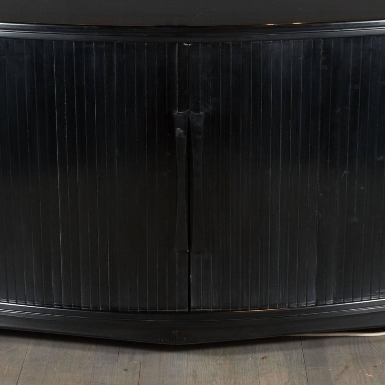 Mid-Century Modernist Sideboard with Mirrored Doors by Julius Rindle, circa 1950 2