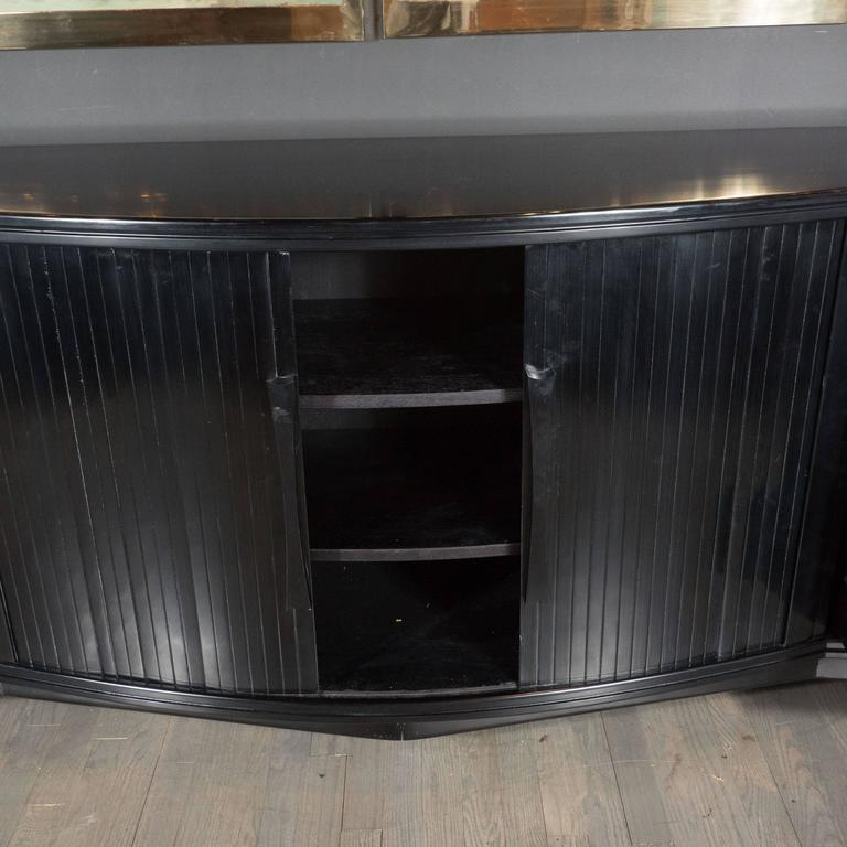 Mid-Century Modernist Sideboard with Mirrored Doors by Julius Rindle, circa 1950 5