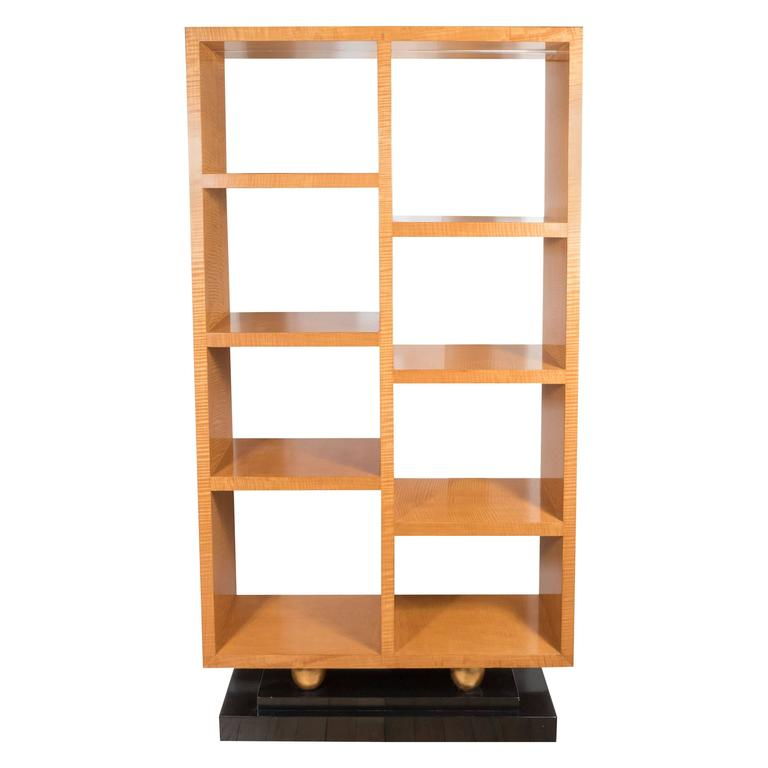 American Art Deco Style Illuminated Presentation Shelving Unit or Bookcase