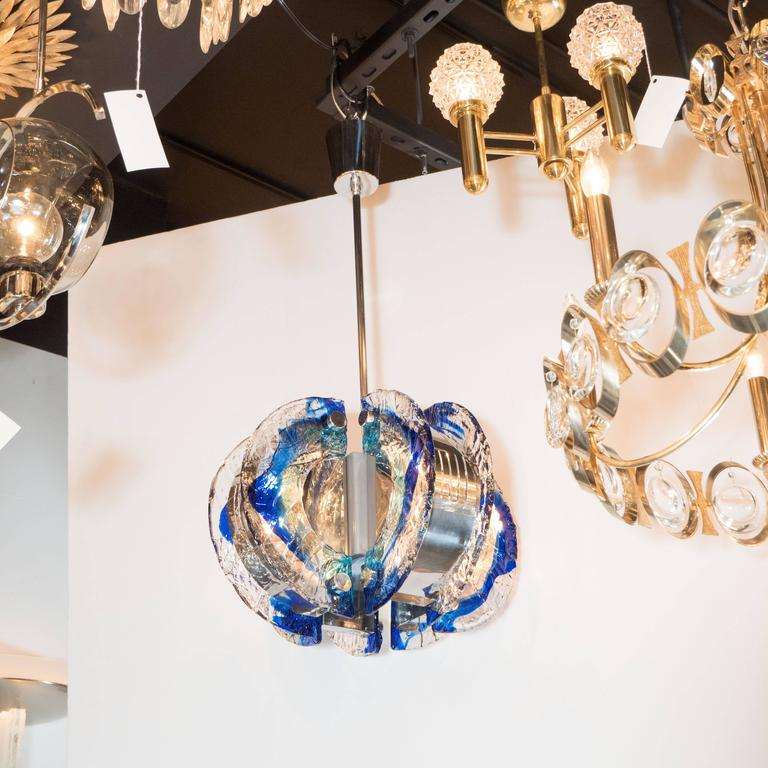 Mid-Century Modernist Murano Glass Chandelier by Angelo Brotto for Esperia  3