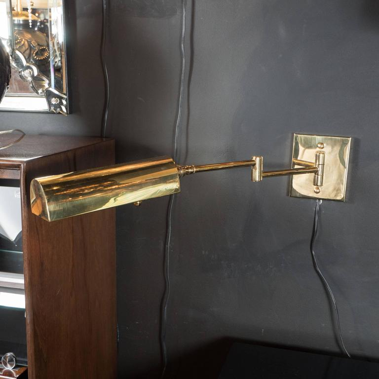 Mid Century Wall Lights Uk: Mid-Century Modernist Swing Arm Brass Sconces By Boyd