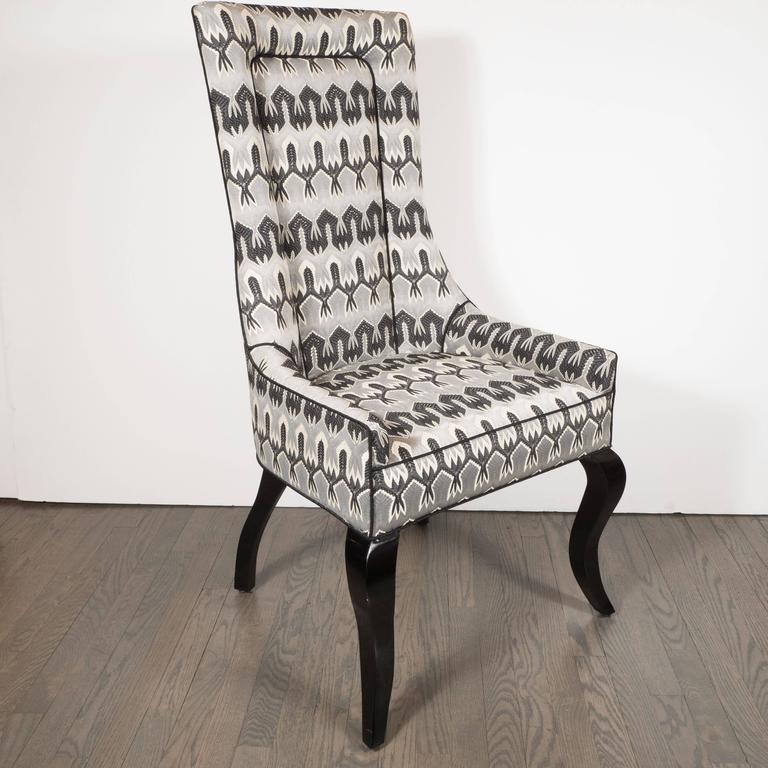 Missoni Fabric Covered Bergere Chair: Mid-Century Modernist High Back Or Desk Chair W/ New
