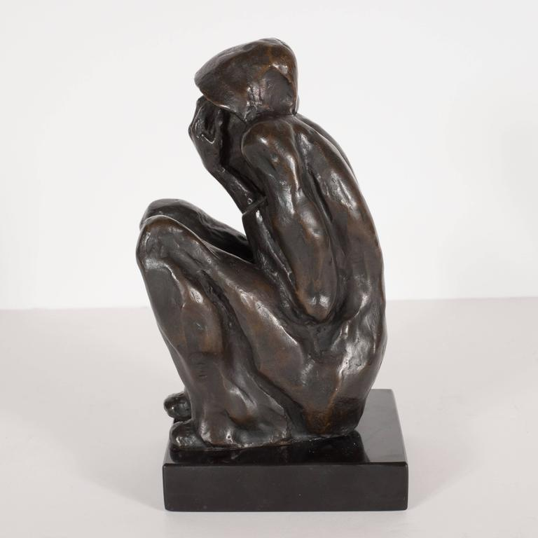 "Bronze on Marble Base ""Grief"" by Doris Porter Caeser 3"